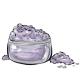 Grey Purple Eye Makeup Powder