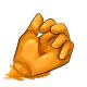 Orange Gummy Hand