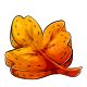 Orange Maple Leaf Plushie