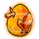 Orange Crystal Glowing Egg
