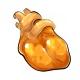 Orange Gummy Heart