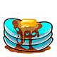 Aqua Syrup Pancakes