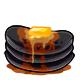 Black Syrup Pancakes