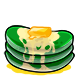 Green Butter Pancakes