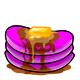 Magenta Syrup Pancakes