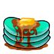 Teal Syrup Pancakes