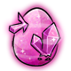 Pink Crystal Glowing Egg