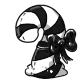 Black Candycane Plushie