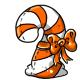 Orange Candycane Plushie