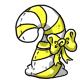 Yellow Candycane Plushie
