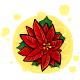 Poinsettia Barette