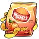 Peach Potato Chips