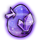 Purple Crystal Glowing Egg