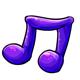 Purple Gummy Music Note