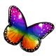 Iridescent Queen Butterfly Wings