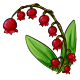Red Lily of the Valley