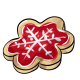Red Snowflake Cookie