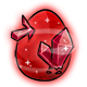 Red Crystal Glowing Egg