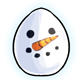 Snowman Face Glowing Egg