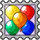 Balloons Stamp