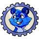 Blue Justin Stamp