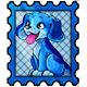 Blue Rusty Stamp