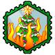 Burning Christmas Tree Stamp