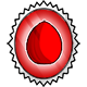 Glowing Red Egg Stamp