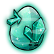 Teal Crystal Glowing Egg