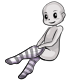 Grey Striped Tights