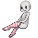 Light Red Striped Tights