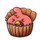 Angry Turkey Cupcake