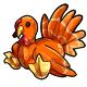 Orange Turkey Plushie