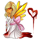 Valentine Mean Fairy Doll