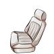 White Front Seat
