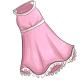 White Ruffle Trim Dress