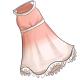 White Ruffle Trim Sheer Dress