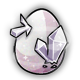 White Crystal Glowing Egg