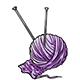 Ball of Lilac Yarn