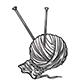 Ball of White Yarn