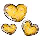 Yellow Heart Cookies