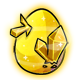 Yellow Crystal Glowing Egg