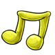 Yellow Gummy Music Note